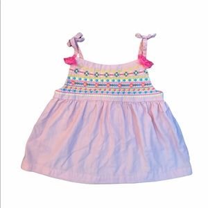 ✨3 for $30✨2T Girls Pink Embroidered Tank Top